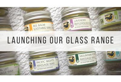 Songbird Naturals Waxes and Balms in eco-friendly 20g glass jars