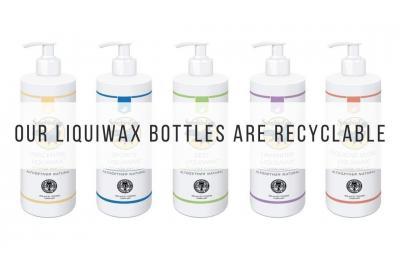 Songbird Naturals Liquiwax in recyclable bottles